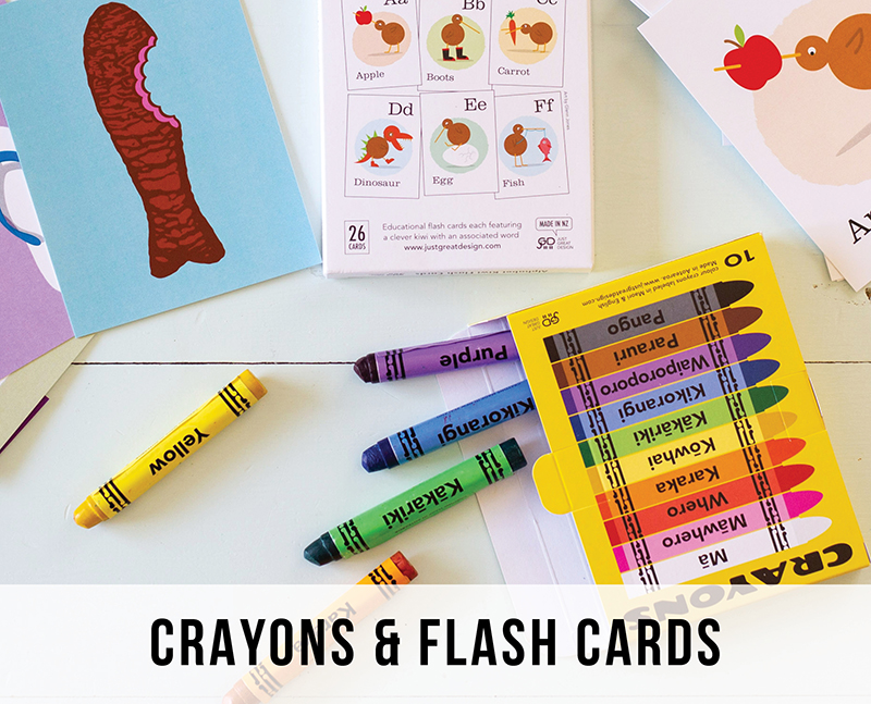 Flash Cards and Crayons